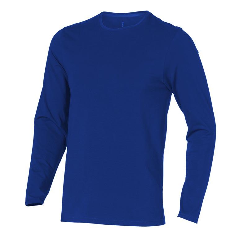 T-shirt bio publicitaire manches longues pour homme Ponoka - textile publicitaire bio