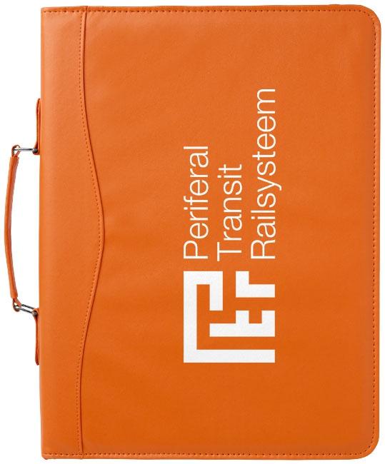 Serviette classeur zippée A4 Ebony orange