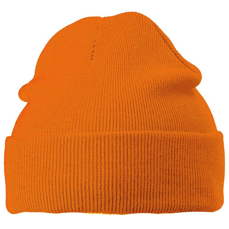 Cadeau publicitaire hiver - Bonnet publicitaire tricot à revers Snow - vert foncé