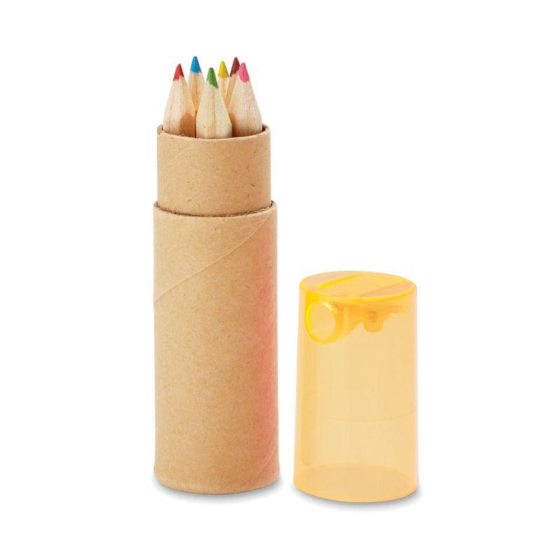 Tube de 6 crayons de couleur Petit Lambut - bleu