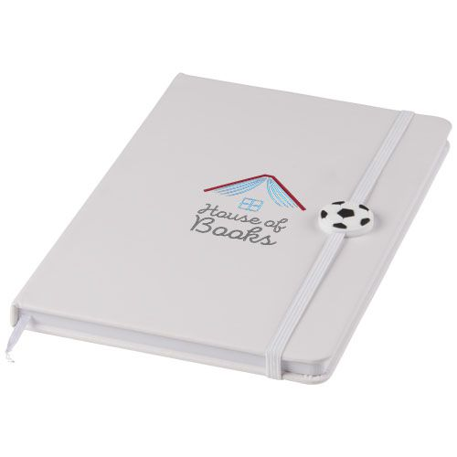 Bloc-notes personnalisé football Rowan - noir