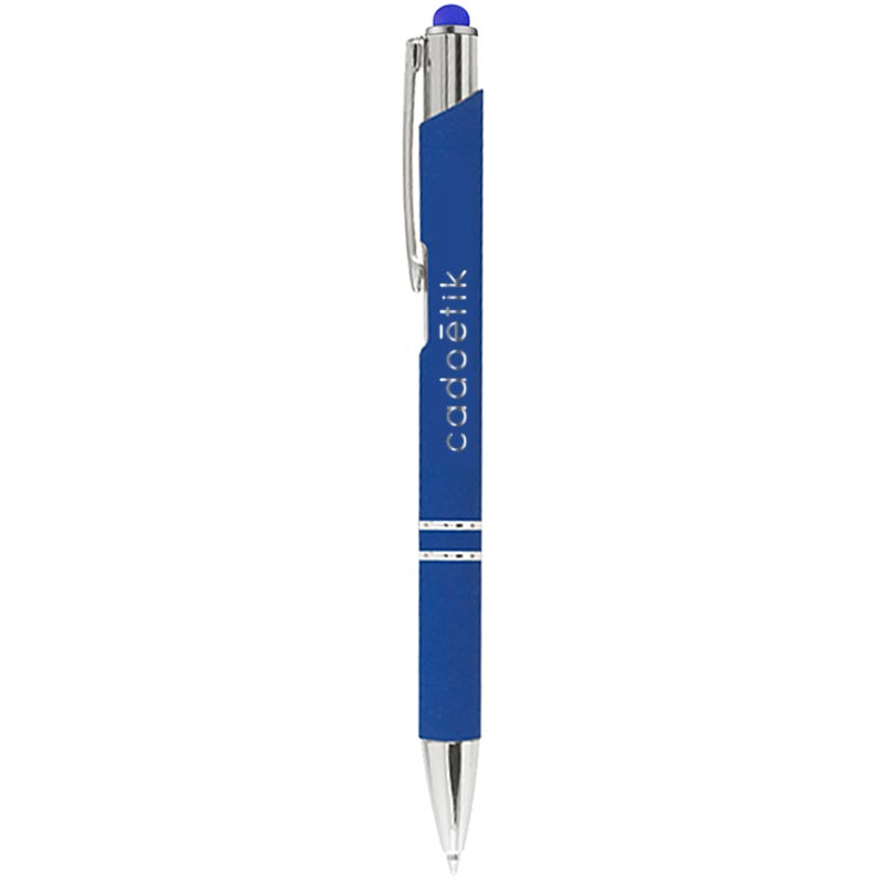 Stylo bille publicitaire Bing Soft Touch - stylo-stylet personnalisable