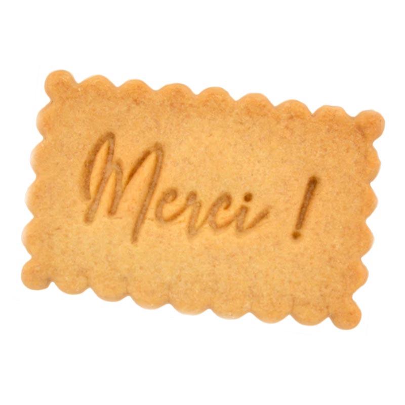 Biscuit publicitaire avec message personnalisé