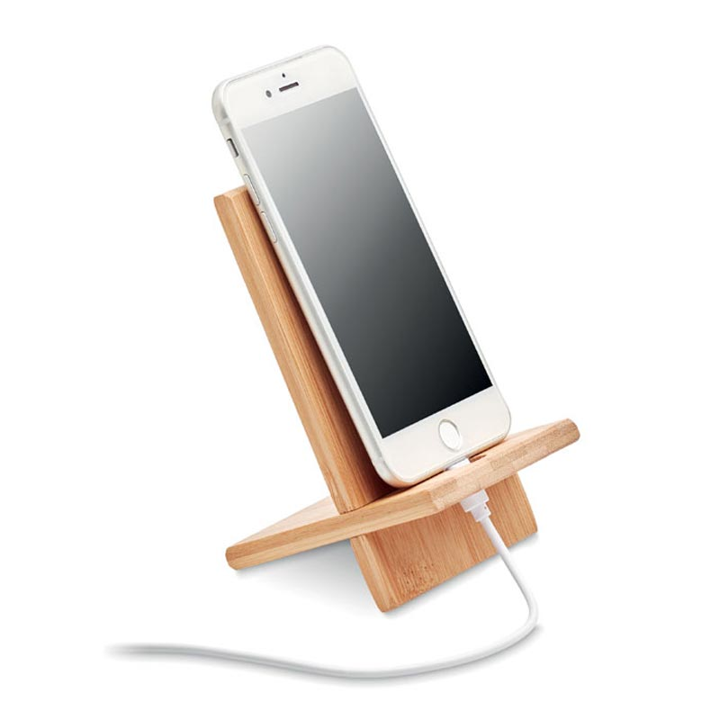 Support de téléphone personnalisable en bambou Whippy