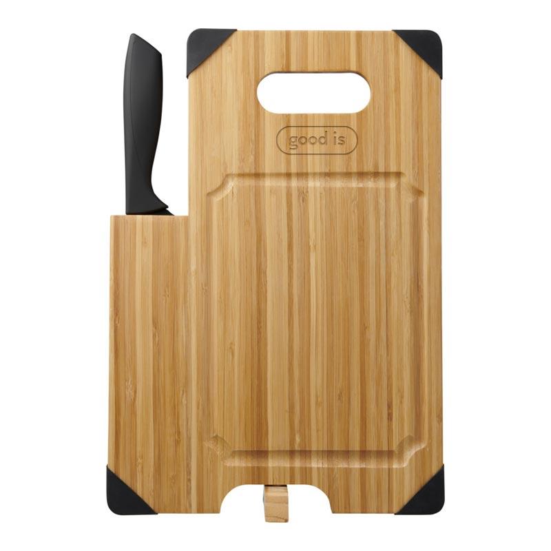 Goodies cuisine - Planche à découper publicitaire en bambou avec couteau