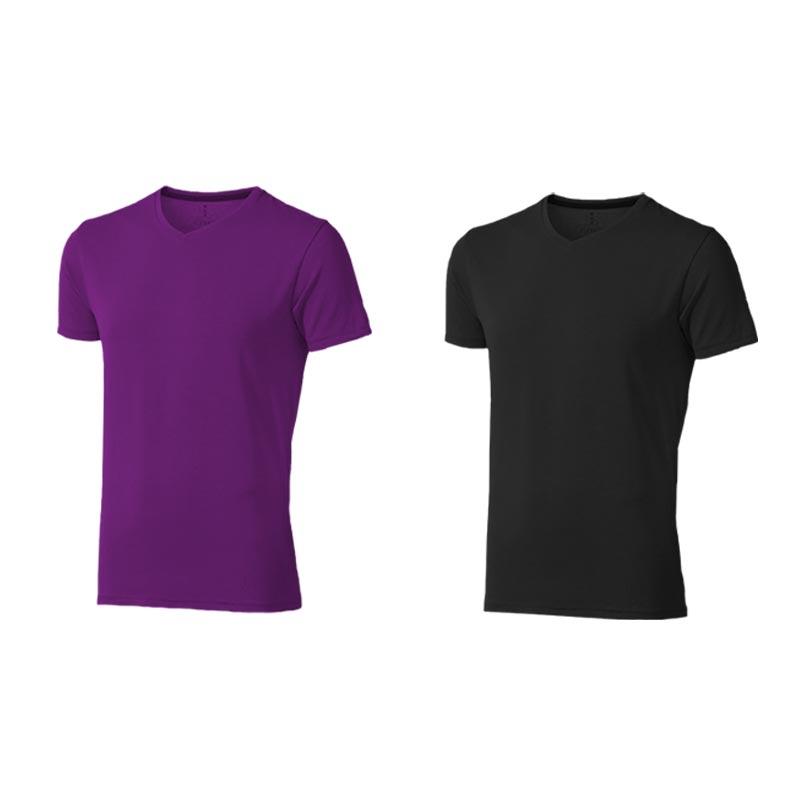 T-shirt bio personnalisé manches courtes homme Kawartha - Tee-shirt en coton bio personnalisable