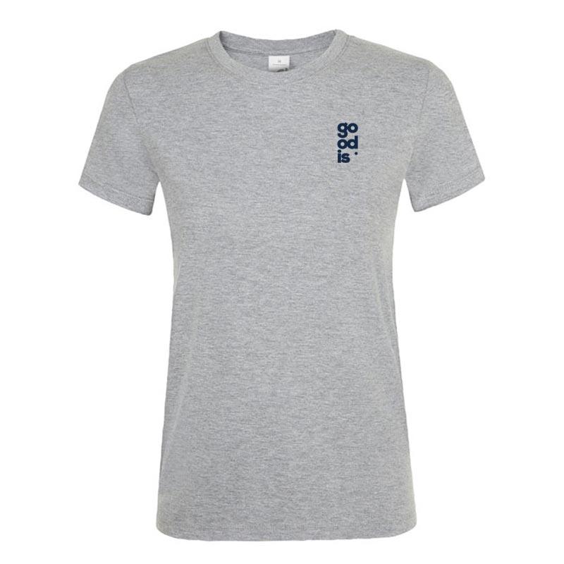 T-shirt publicitaire femme Regent - Coloris gris