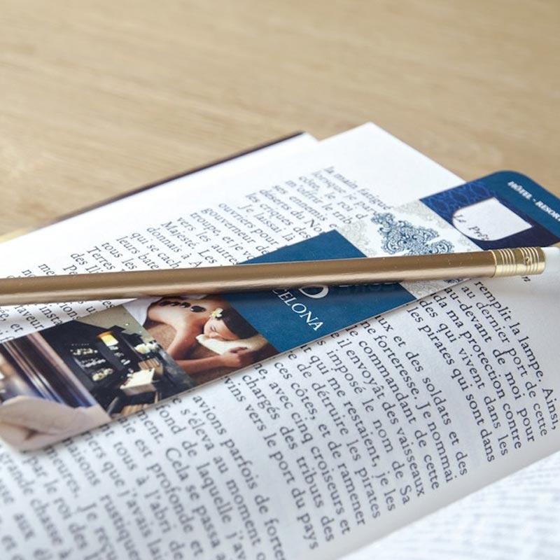 Kit marque-page personnalisable et crayon à papier Eco Pantone