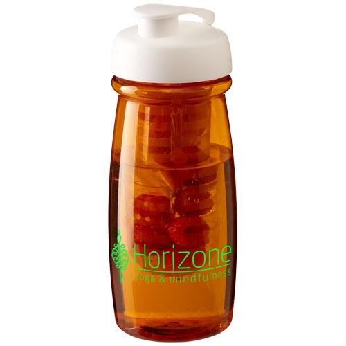 Gourde sport publicitaire et infuseur H2O Pulse® 600 ml avec couvercle à clapet