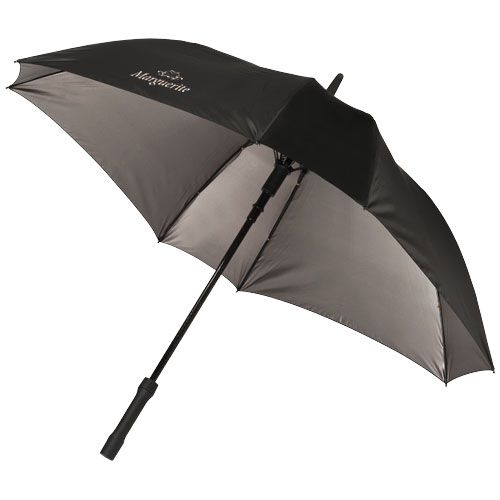 """Parapluie carré 23"""" gris et noir"""