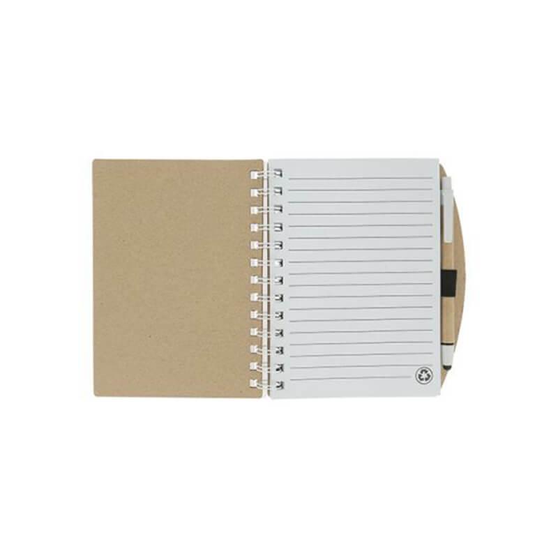 Cadeau publicitaire écologique - Carnet et stylo avec notes Trio