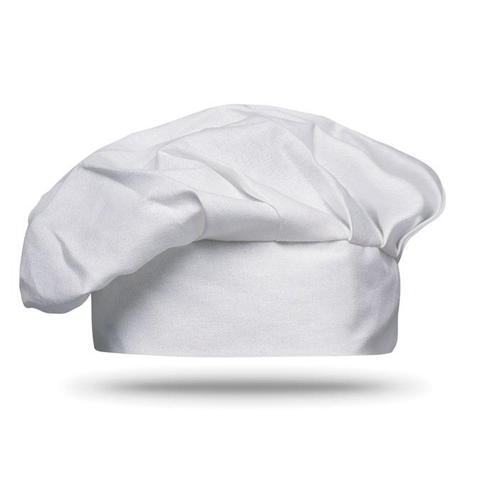 Objet publicitaire cuisine - Toque publicitaire de chef en coton Chef - noir