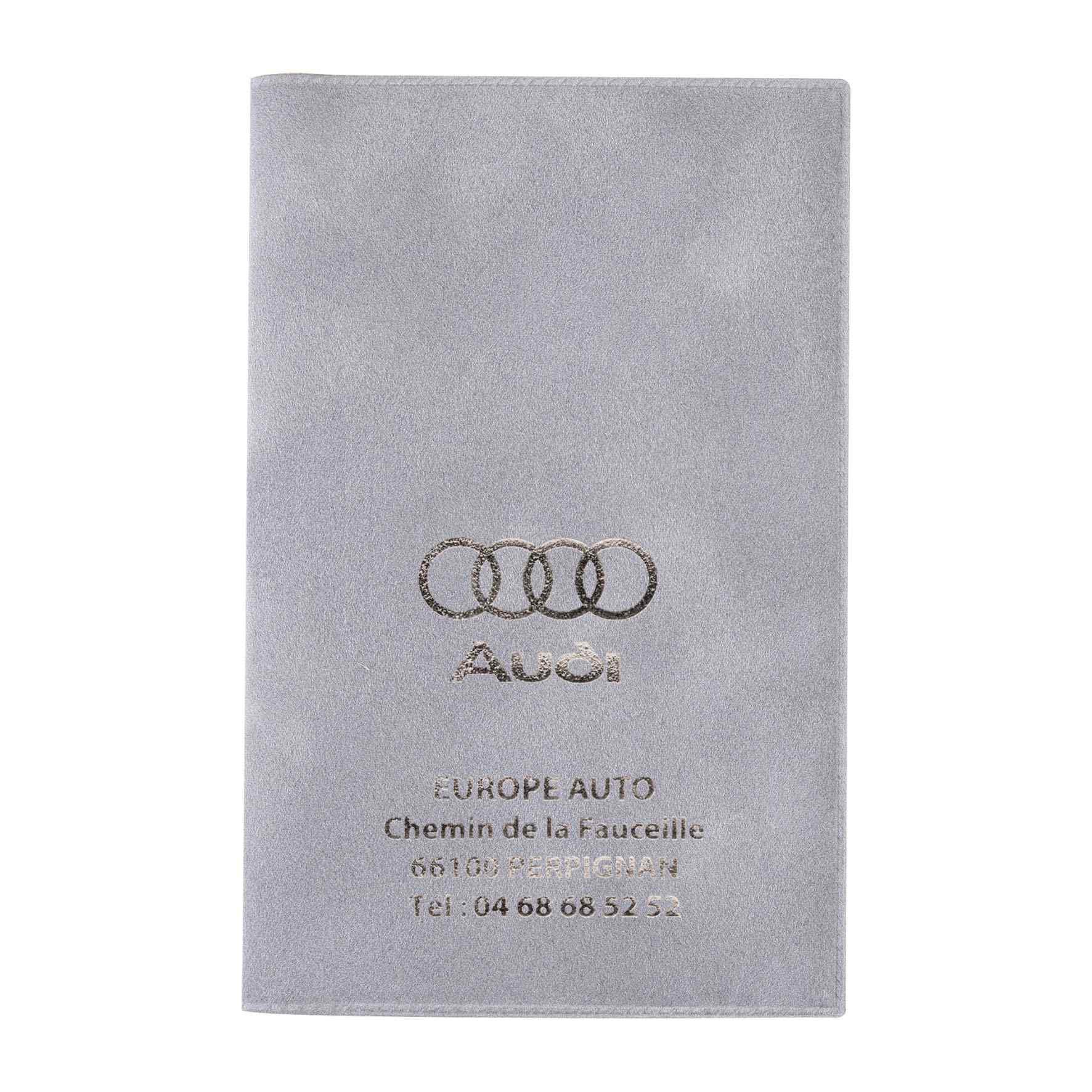 Objet promotionnel - Porte-carte grise publicitaire 3 volets Motor