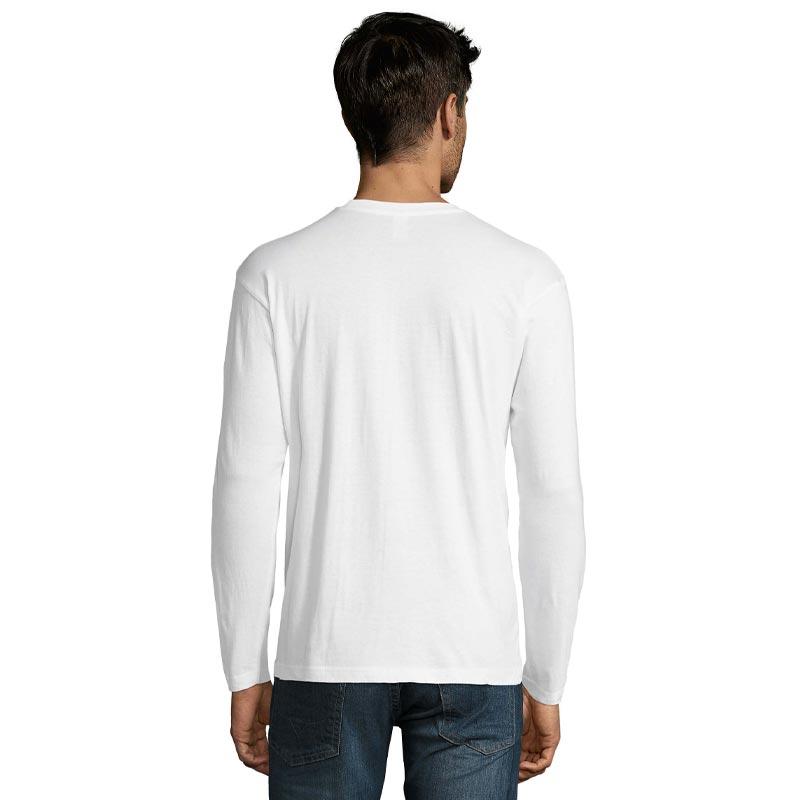 Tee-shirt publicitaire homme à manches longues vue de dos