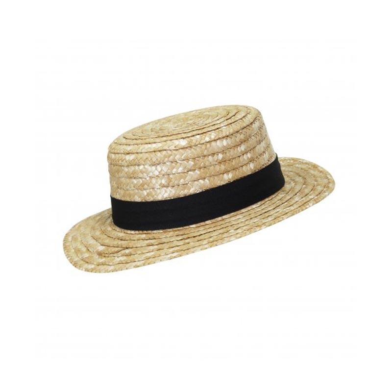 Chapeau de paille publicitaire Canotier - Cadeau publicitaire
