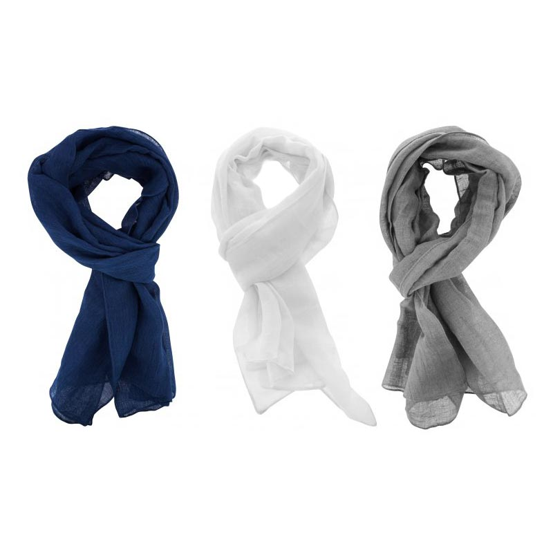 Foulards personnalisables gris blanc bleu