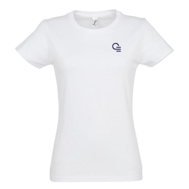 T- shirt publicitaire femme en coton Imperial 190 g - Coloris blanc