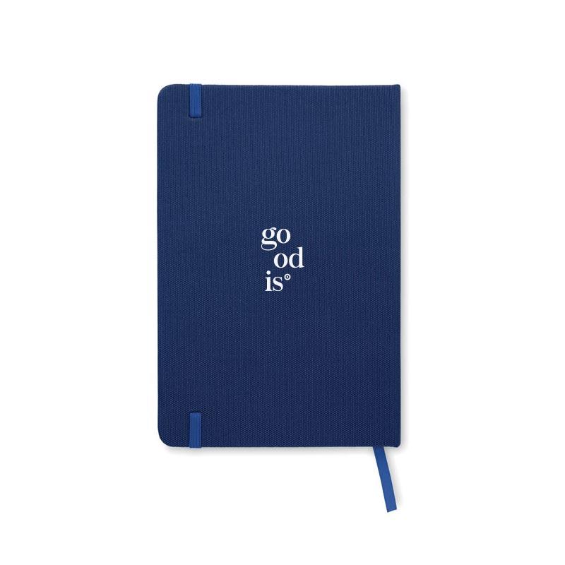 Carnet publicitaire A5 en rPET Note bleu