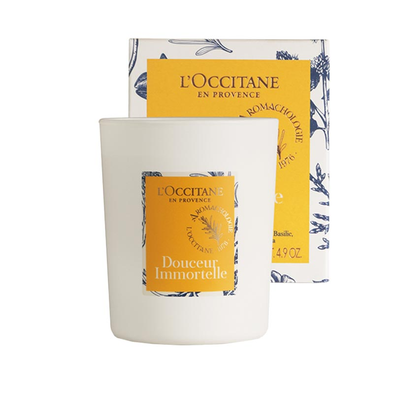 Bougie publicitaire l'Immortelle L'Occitane - Goodies made in France