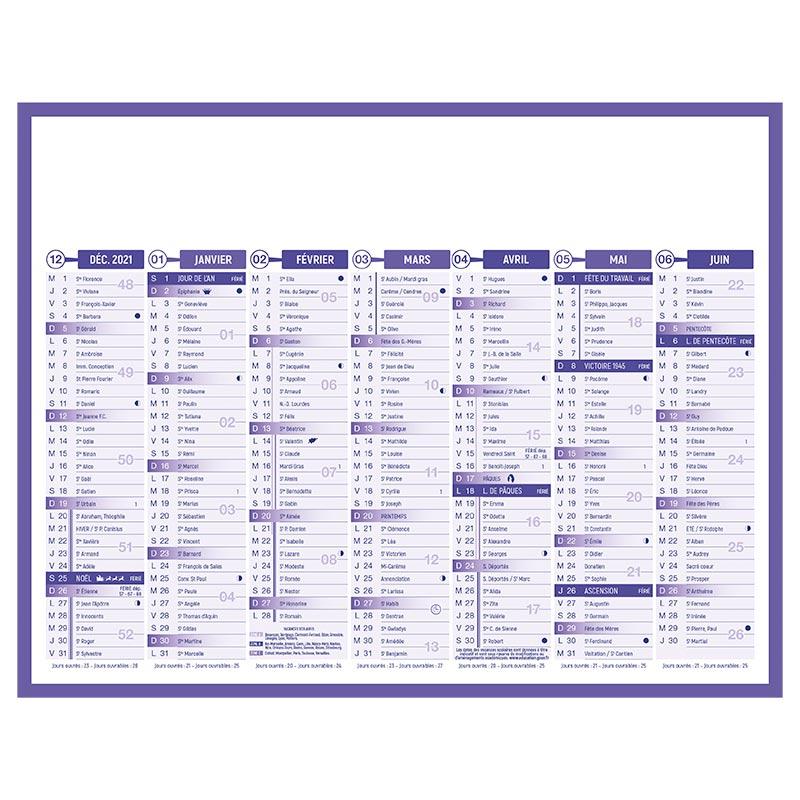 Calendrier publicitaire bancaire premium grille 2022