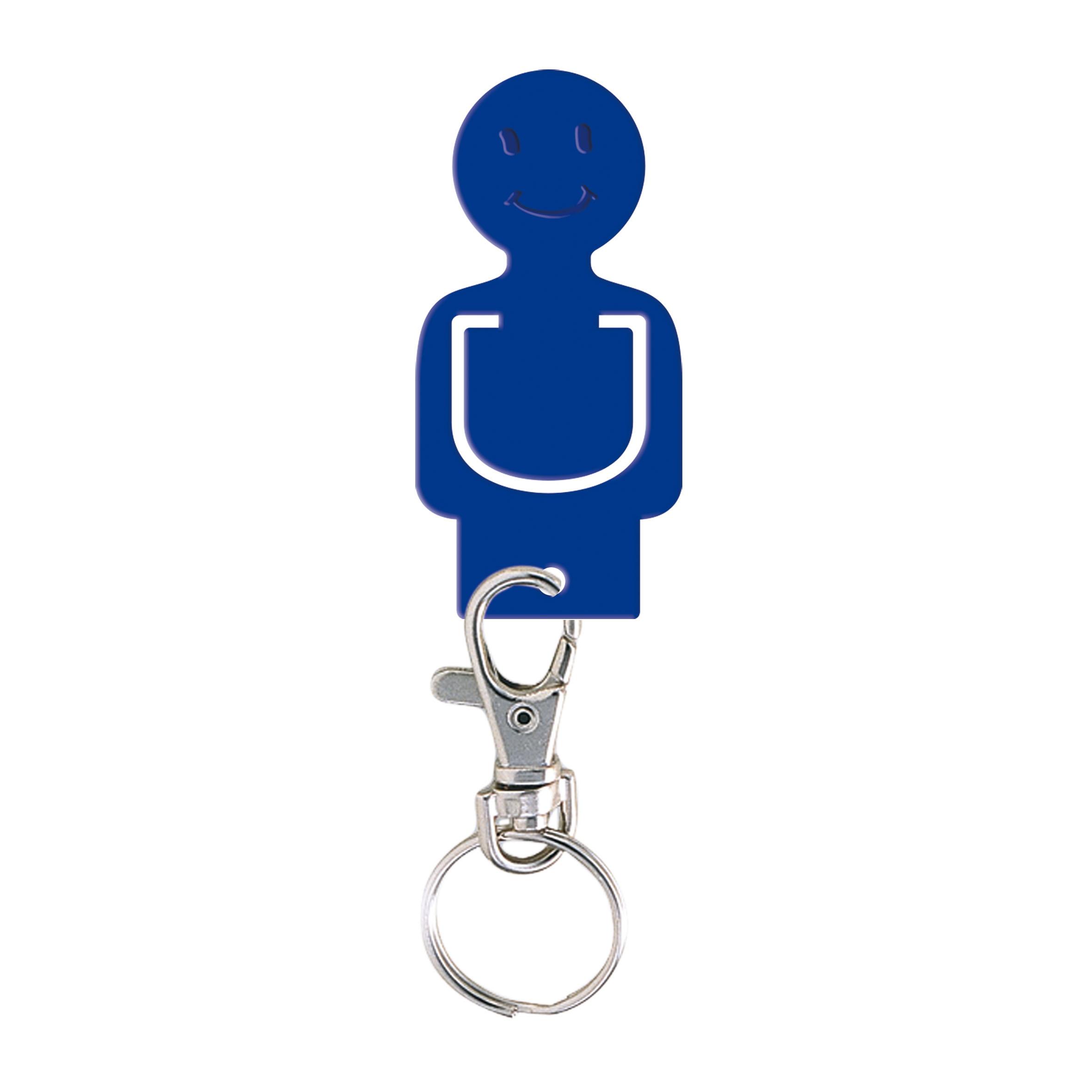 Porte-clés publicitaire jeton caddie Figurine - porte-clés personnalisable