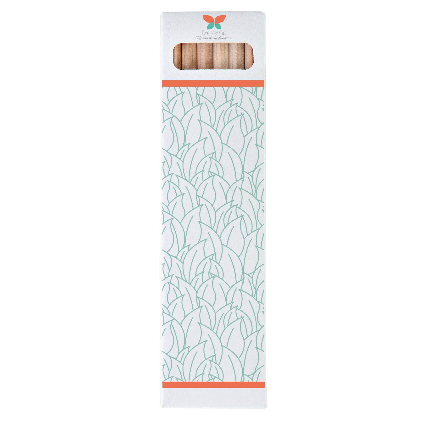 Goodies écologique - étui de 6 crayons de couleur personnalisés Eco 17,8