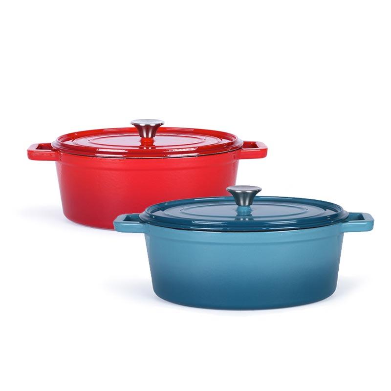 Cocotte publicitaire ovale Mijo rouge ou bleu