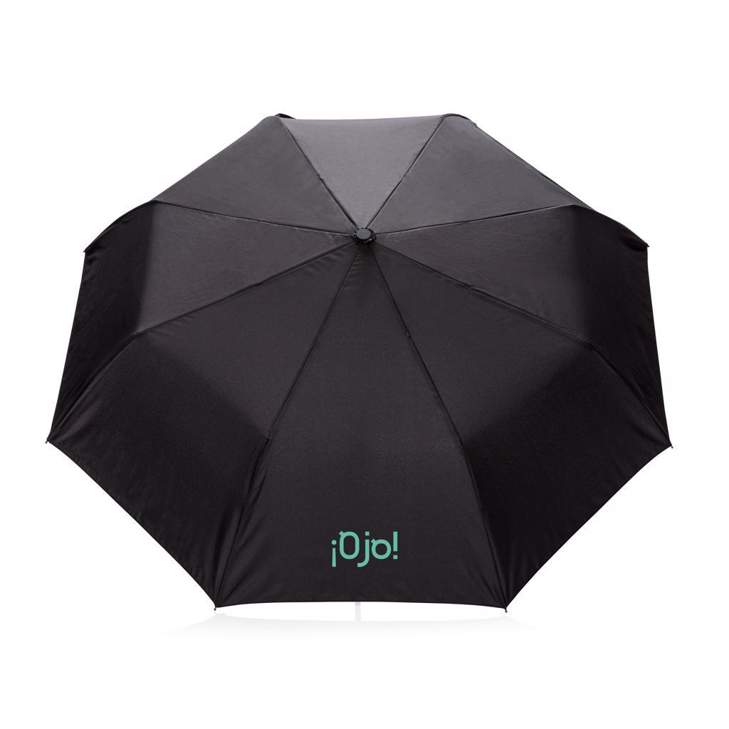 Parapluie pliable publicitaire noir Strato