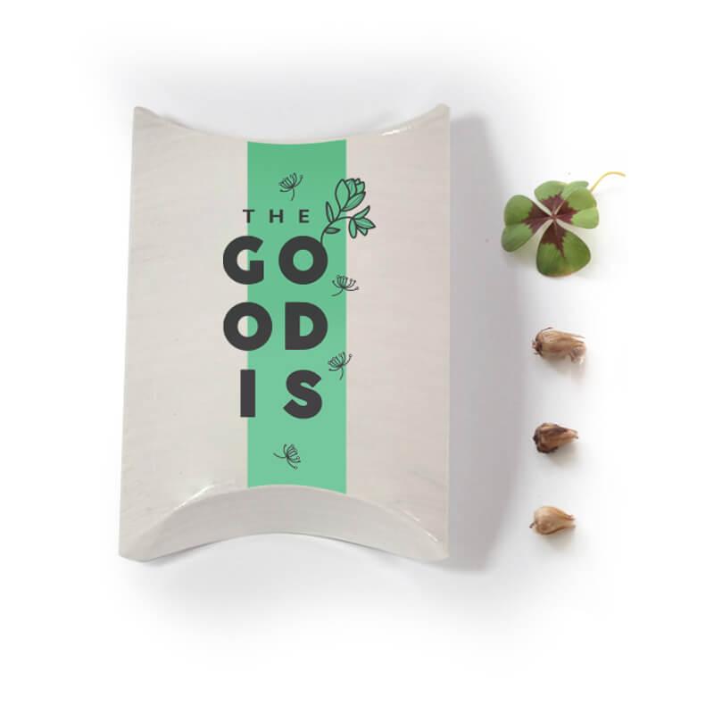 Goodies entreprise - Berlingot Trèfle à 4 feuilles 50x80x20 mm