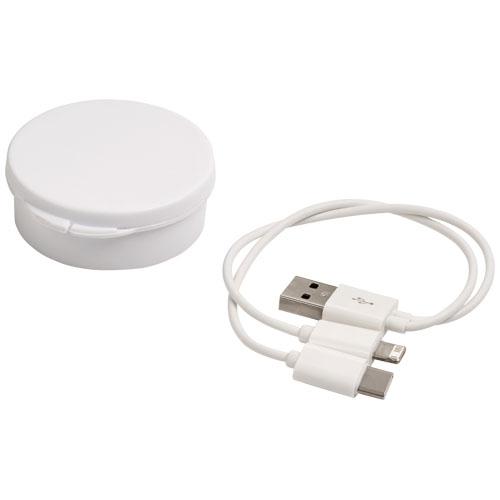 Goodies entreprise - Câble de recharge marquage logo 3-en-1 Versa