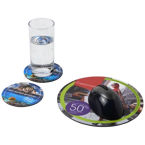 Goodies - Ensemble de tapis de souris et de dessous de verre Q-Mat® 5