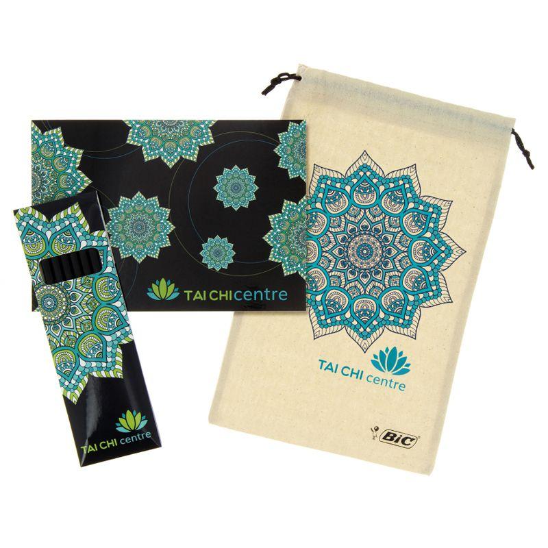 Set de coloriage publicitaire Bic® Conté® Colouring SP - cadeau publicitaire bien-être