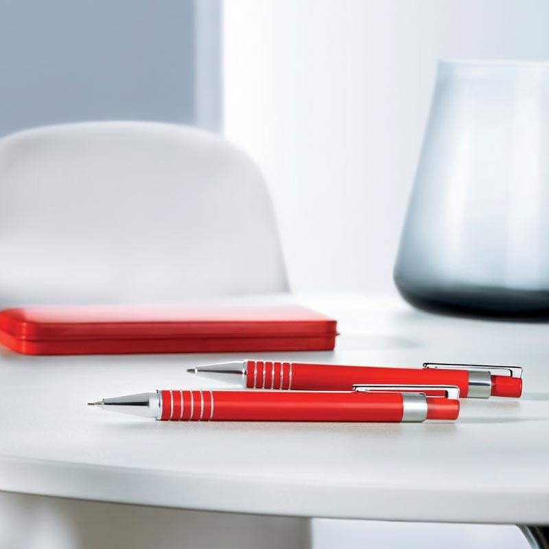 stylo publicitaire - parure stylo bille et portemine publicitaires aluminium Alucolor