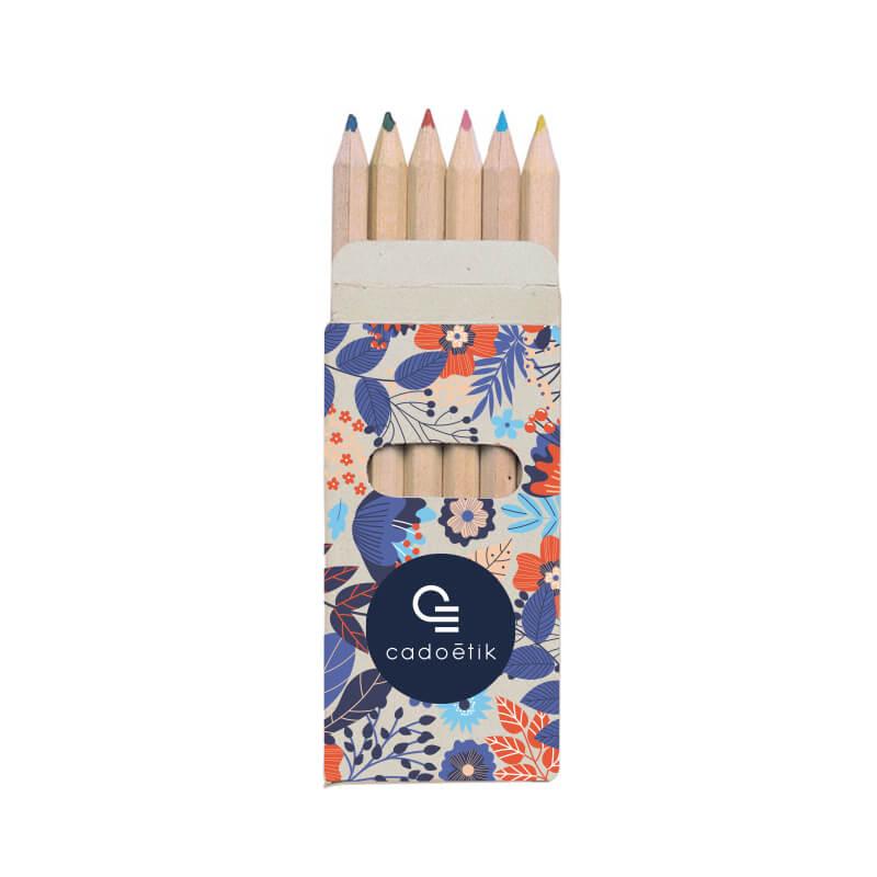 Etui 6 crayons de couleur Rainbow