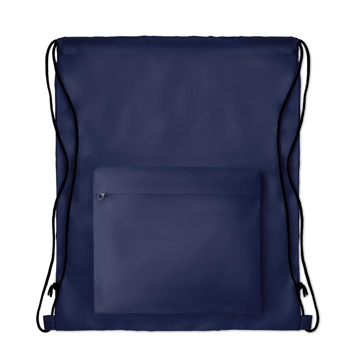 Gymabg personnalisé avec poche pocket Shoop rouge - cadeau publicitaire