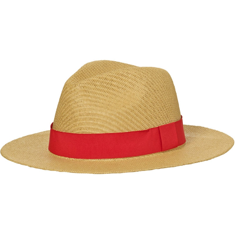 Chapeau publicitaire Bucolique en paille tressée ruban vert