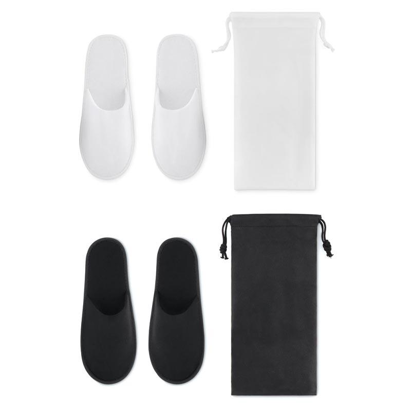 Chaussons publicitaires Flip Flap avec votre logo - noir