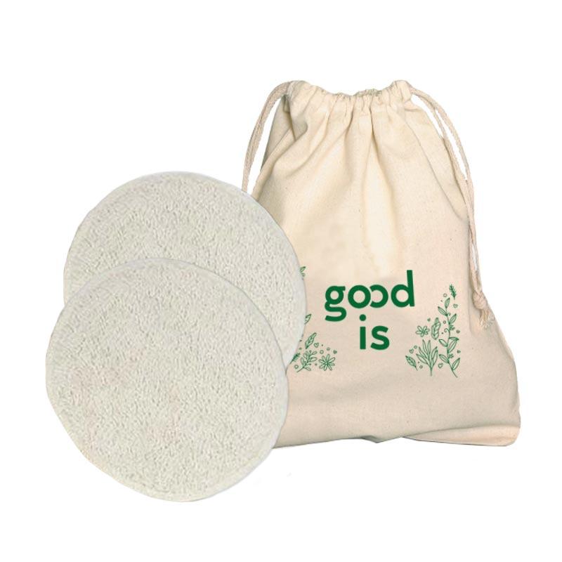 Disques démaquillants publicitaires en coton éponge - Goodies zéro déchet