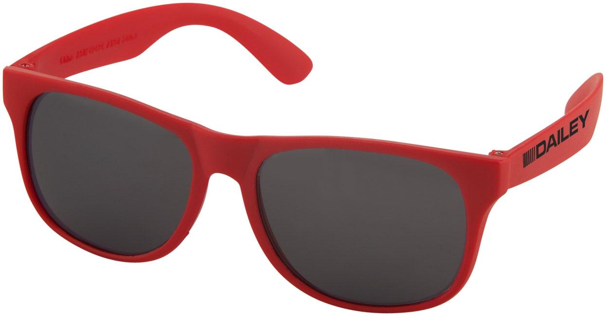 Goodies pour l'été - Lunettes de soleil publicitaires rétro - solid - rouge