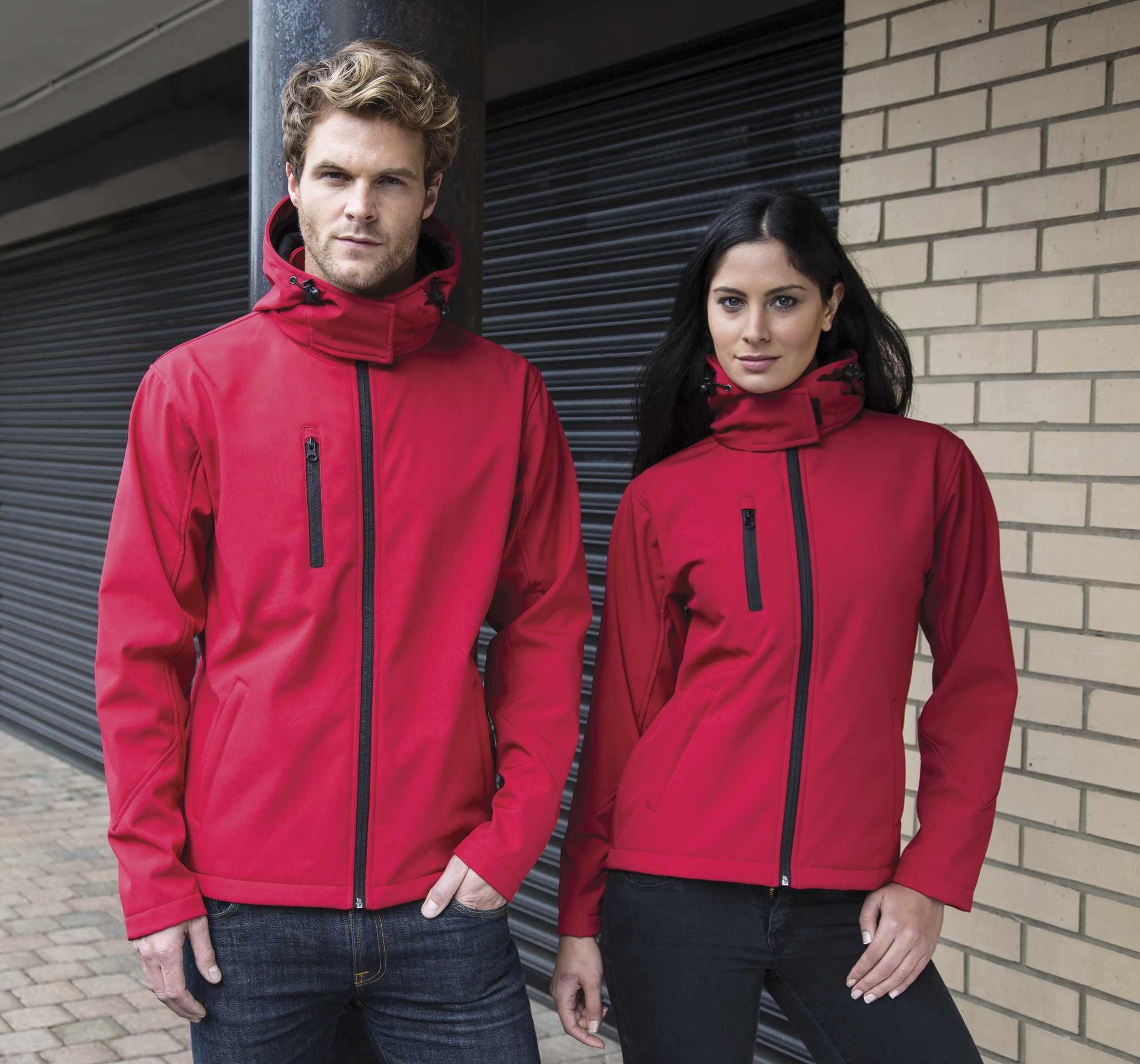 Veste personnalisable Hoodo pour homme rouge/noir - veste promotionnelle