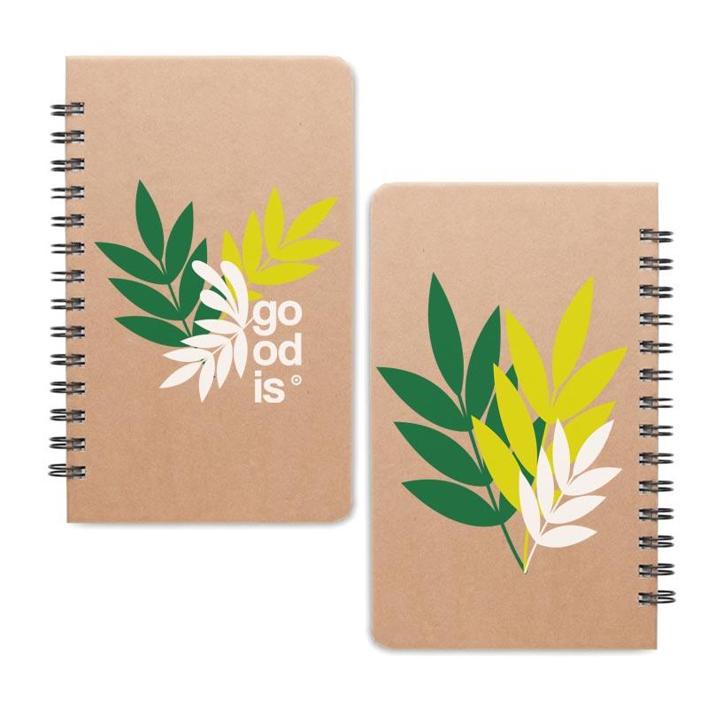 Petit carnet à spirales avec graines d'arbre Grownotebook