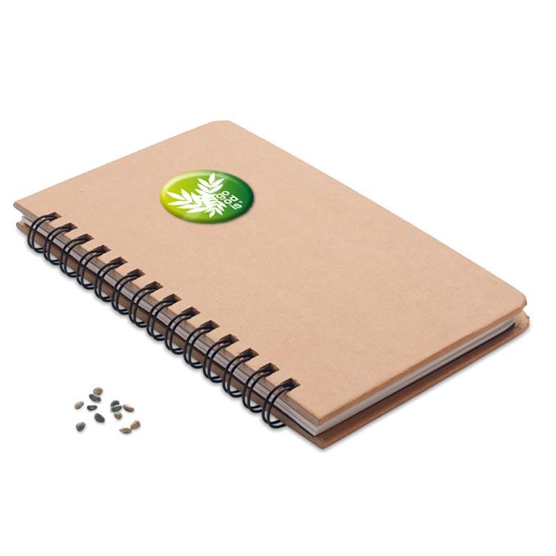 Carnet personnalisable avec graines de pin à planter
