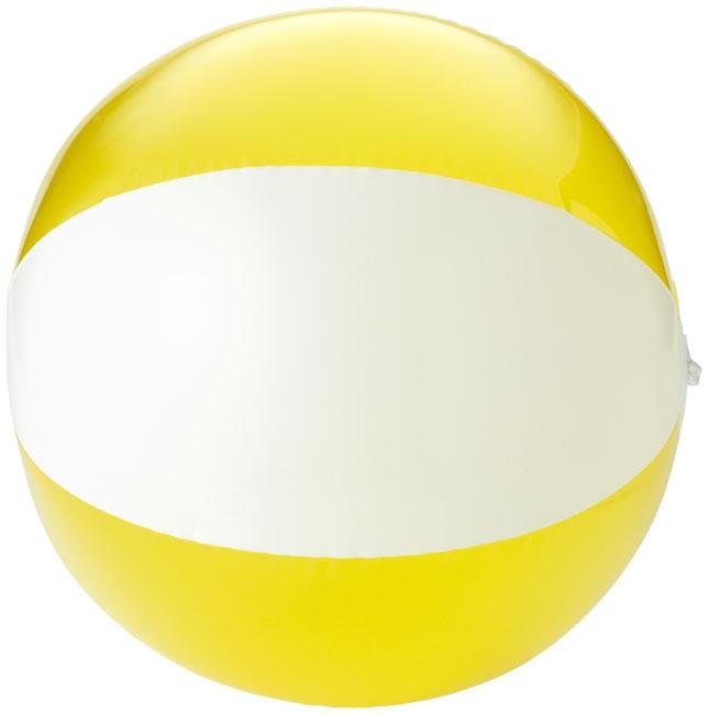 Objet publicitaire outdoor - Ballon de plage personnalisé Bondi - jaune