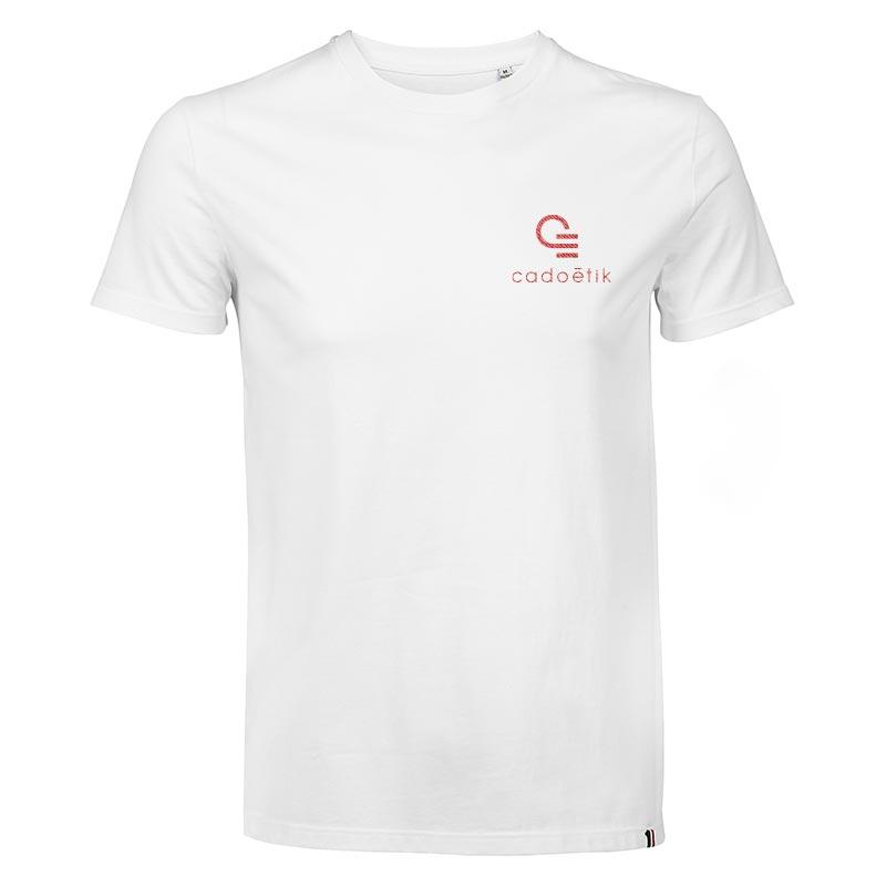 T-shirt publicitaire en coton Léon 150 g - Coloris blanc