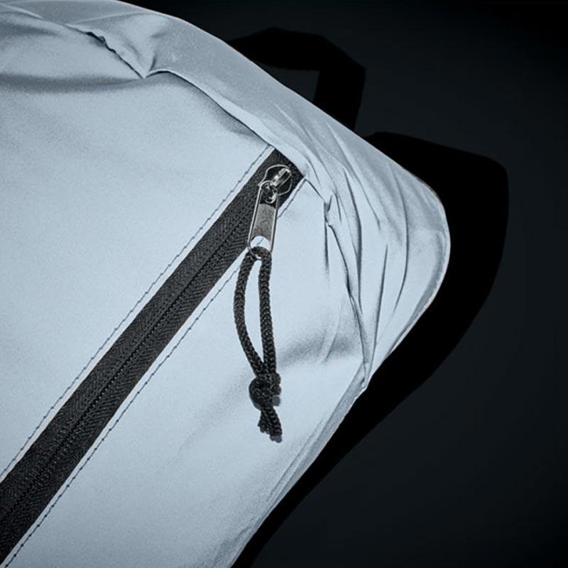 sac à dos publicitaire Visiback à effet réfléchissant - fermeture zip