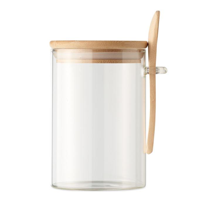 bocal publicitaire en verre Borospoon 1