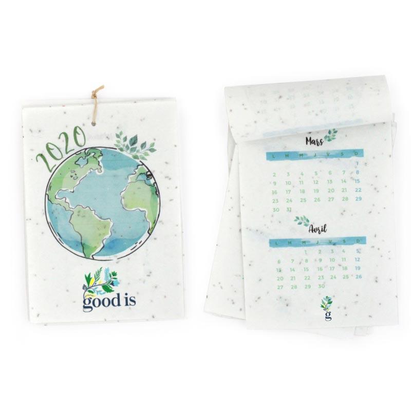 Goodies entreprise client - Calendrier en papier à graines