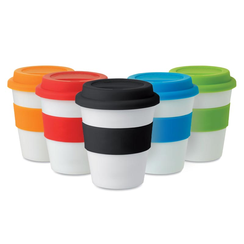 Gobelet PP, couvercle silicone