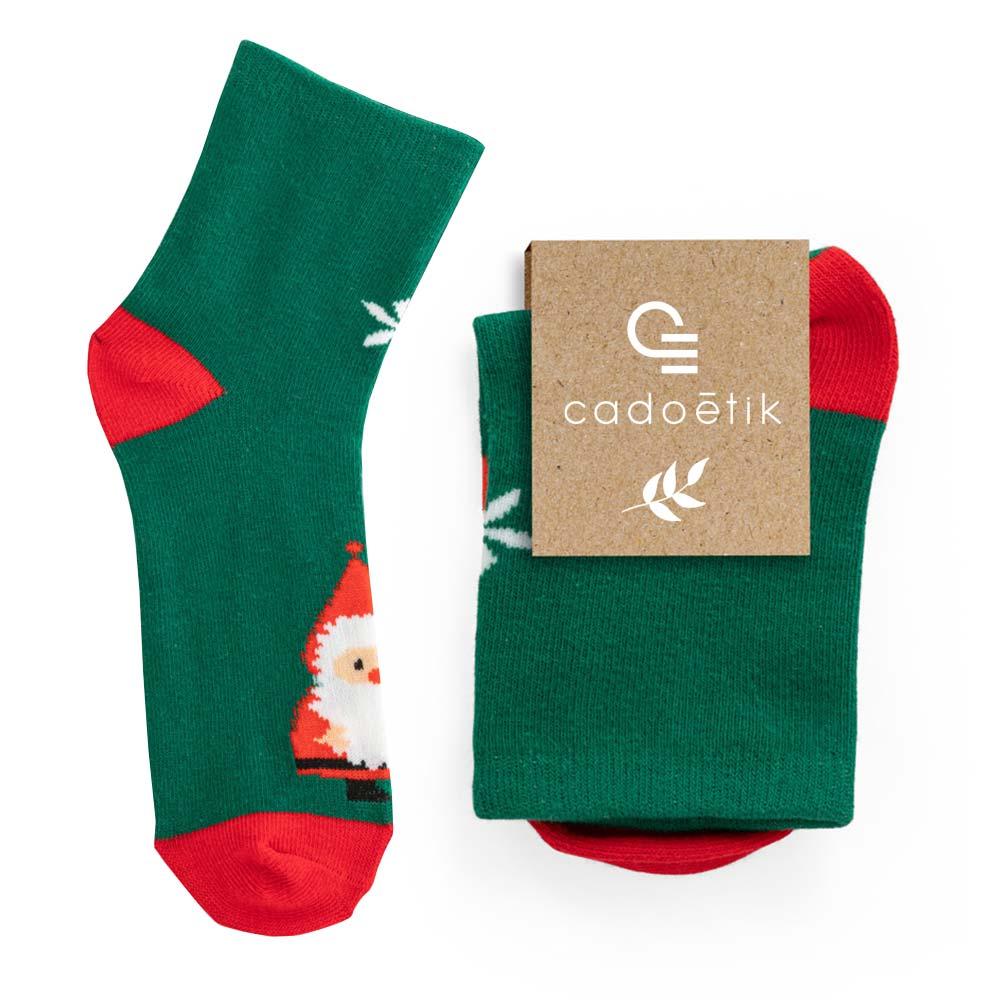 Chaussettes publicitaires pour enfant Santa 1