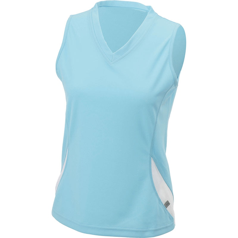 Tee-shirt promotionnel sans manches pour femme Running Topcool noir/rouge - t-shirt personnalisable